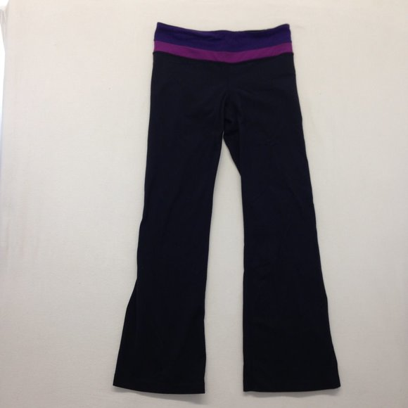 Lululemon Women's Size 8 Black w/ Purple Pink Band